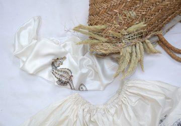 ręcznie malowana chusta