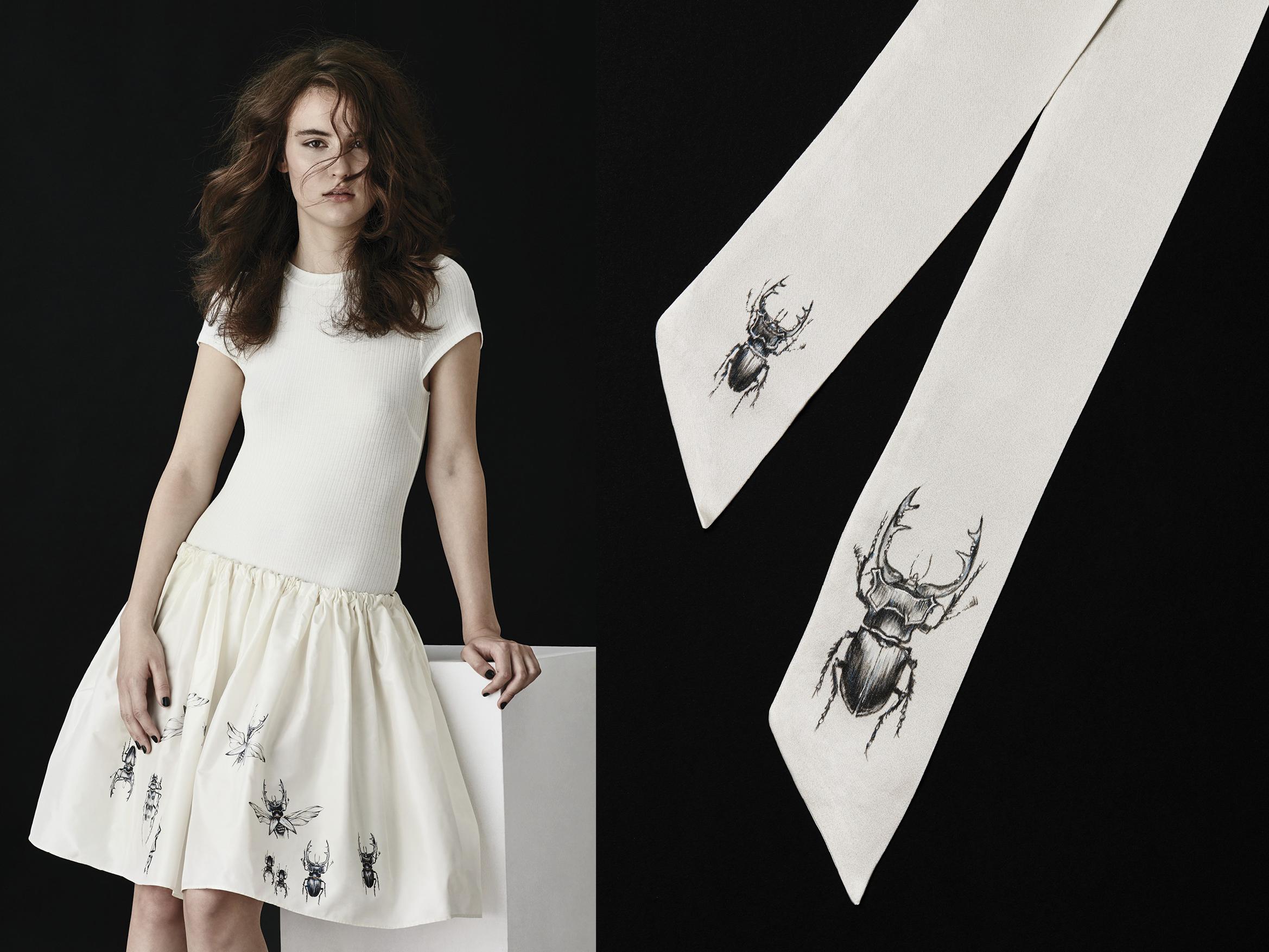 szeleszcząca spódnica ręcznie malowana staje sie uzależniającą przyjemnością, niepowtarzalna i luksusowa